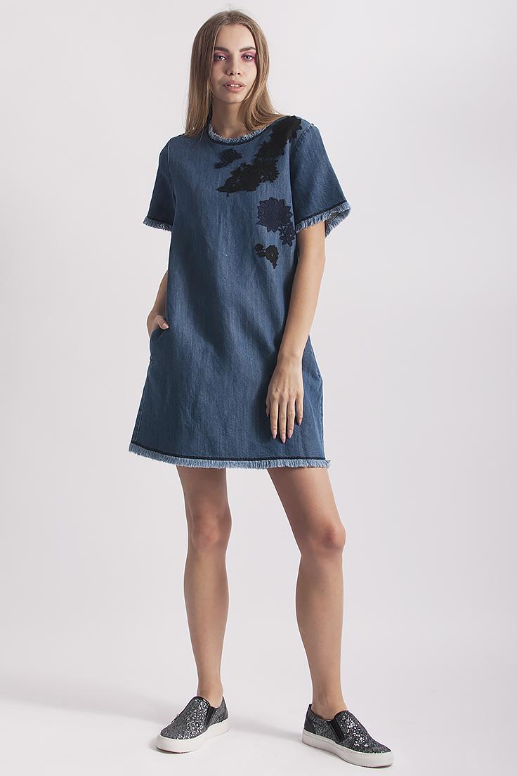 Макс мара платье синее