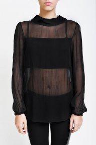 Купить Черную Прозрачную Блузку